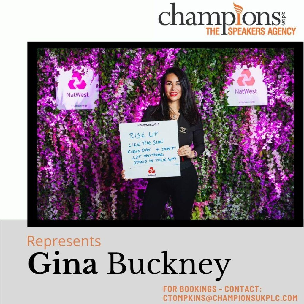 Gina Buckney AND CHAMPIONS SPEAKERS
